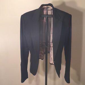 Black blazer with pink silk lining:Small